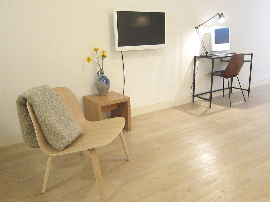 2-stoel met tv